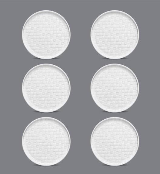 LUBIANA MARRAKESZ Komplet talerz deserowy 20 cm / 6 os / 6 el / biały / porcelana