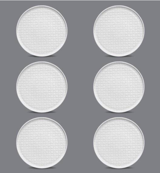LUBIANA MARRAKESZ 6 x talerz obiadowy 26 cm / biały / porcelana