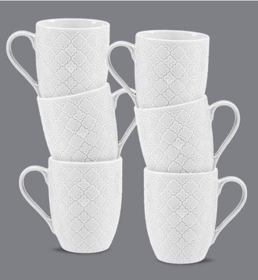 LUBIANA MARRAKESZ 6 x kubek 350 ml / biały / porcelana