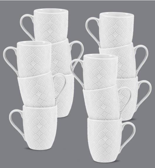 LUBIANA MARRAKESZ Komplet kubek 350 ml / 12 os / 12 el / porcelana