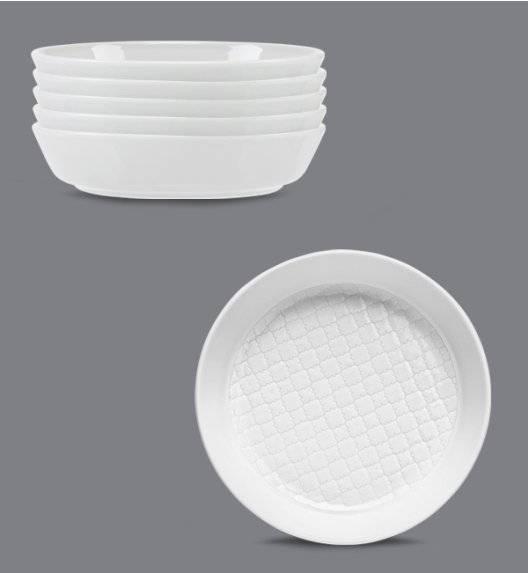 LUBIANA MARRAKESZ Komplet talerz głęboki 20 cm / 6 os / 6 el  / biały / porcelana