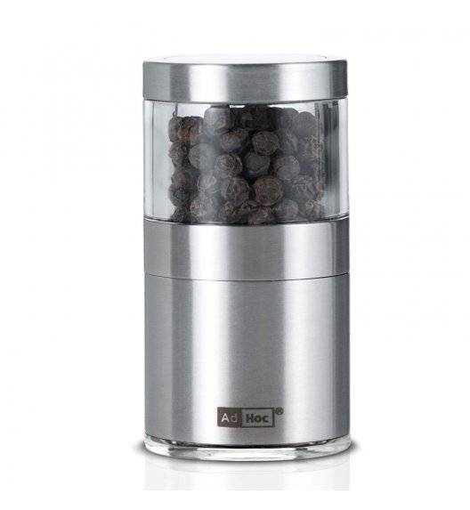 ADHOC BASSO Młynek do pieprzu lub soli / stal nierdzewna