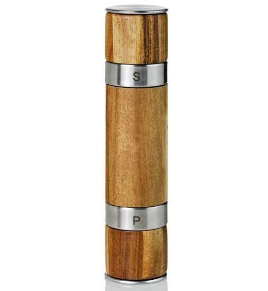 ADHOC DUOMILL Młynek do pieprzu lub soli / drewno akacjowe