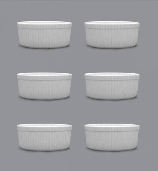 LUBIANA AMERYKA 6 x Czarka / salaterka z reliefem ø 9 cm / porcelana