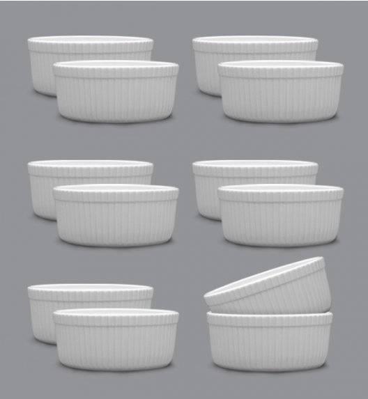LUBIANA AMERYKA 12 x Czarka / salaterka z reliefem ø 9 cm / porcelana