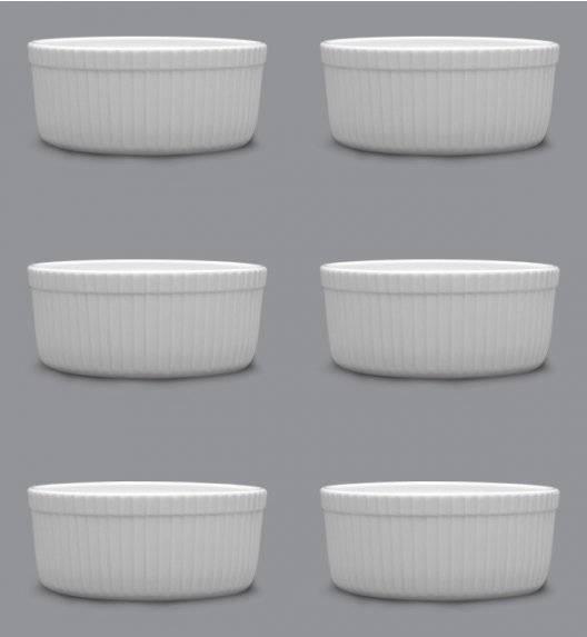 LUBIANA AMERYKA 6 x Czarka / salaterka z relifem ø 11,5 cm / porcelana