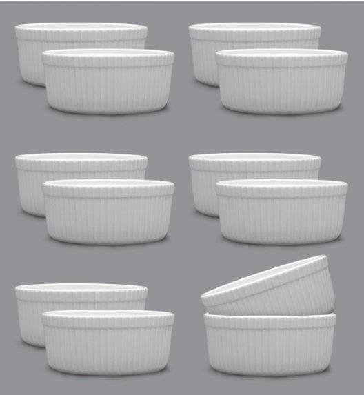LUBIANA AMERYKA 12 x Czarka / salaterka z relifem ø 11,5 cm / porcelana