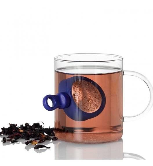 ADHOC MAGTEA Magnetyczny zaparzacz do herbaty 11 cm / niebieski / stal nierdzewna