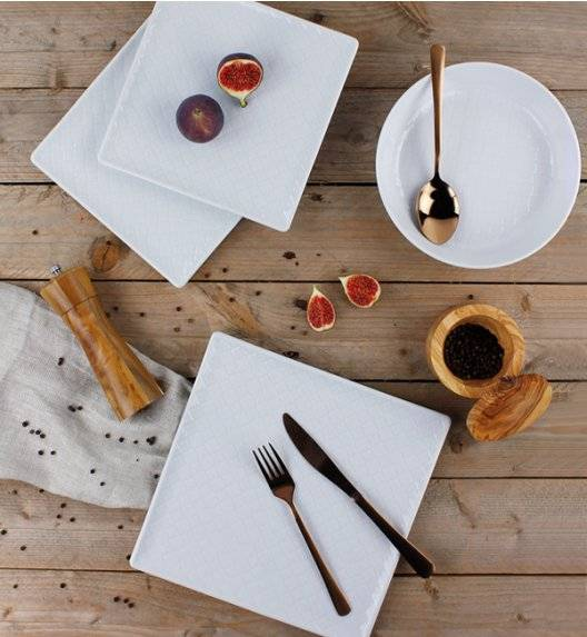 LUBIANA MARRAKESZ Komplet obiadowy 18 os 54 el / kwadratowy / porcelana
