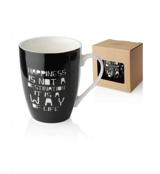 WYPRZEDAŻ! AFFEKDESIGN SZCZĘŚCIE Kubek 350 ml / czarny /  porcelana