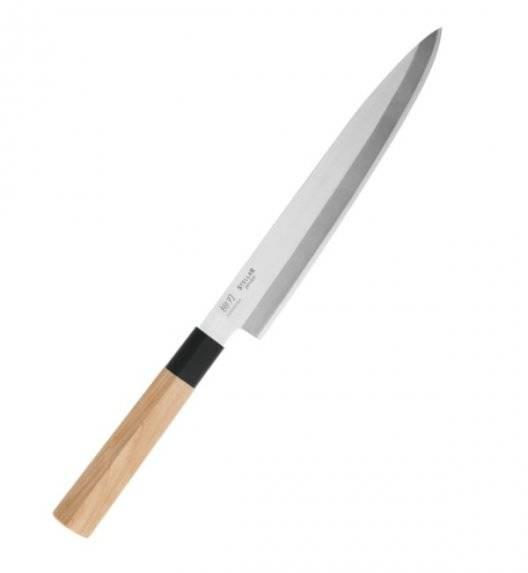 WYPRZEDAŻ! STELLAR SAMURAI Nóż Yanagiba 20 cm / stal nierdzewna + drewno klonowe