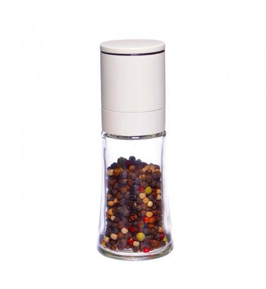 CUISIPRO Młynek szklany do pieprzu / soli, biały