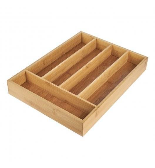TADAR Bambusowy wkład do szuflady na sztućce 35,5 x 26,5 x 5 cm
