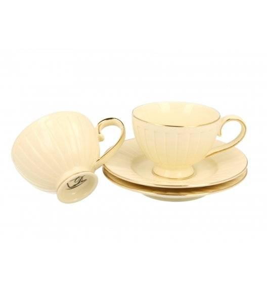 WYPRZEDAŻ! DUO NINA Komplet 2 filiżanek espresso ze spodkami / 120 ml / Porcelana
