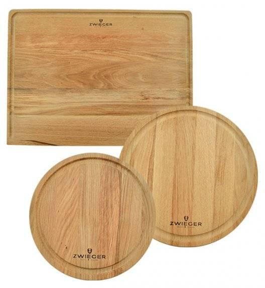 ZWIEGER NATURAL Komplet 3 desek / okrągłe + deska na blat / drewno jesionowe