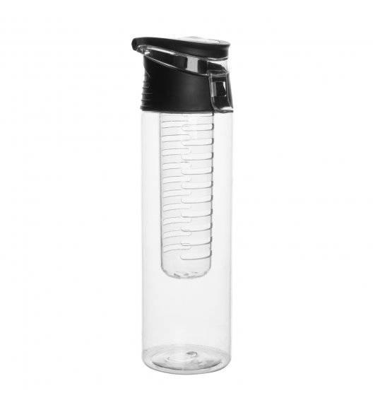 TADAR Butelka na napoje z wkładem na owoce / 700 ml / czarna