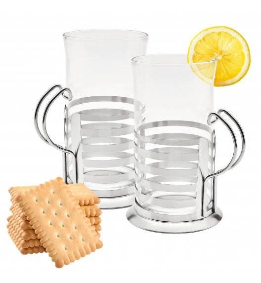 TADAR ARABICA Zestaw 2 szklanek w metalowych koszyczkach