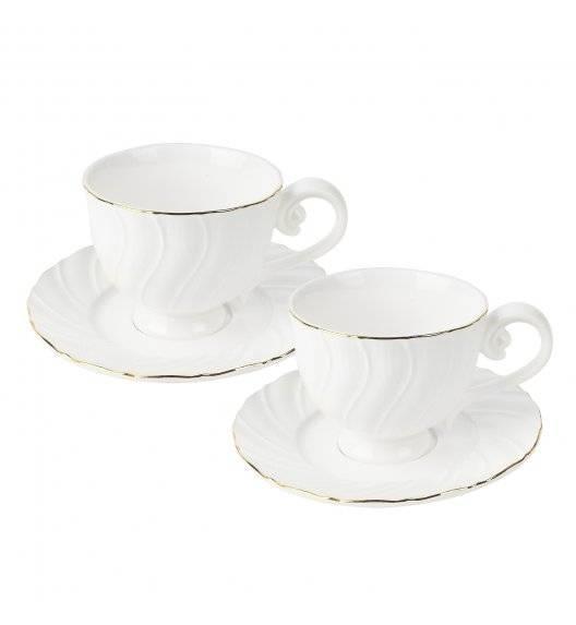 TADAR SONATA Komplet 2 Filiżanki ze spodkami 280 ml / Porcelana