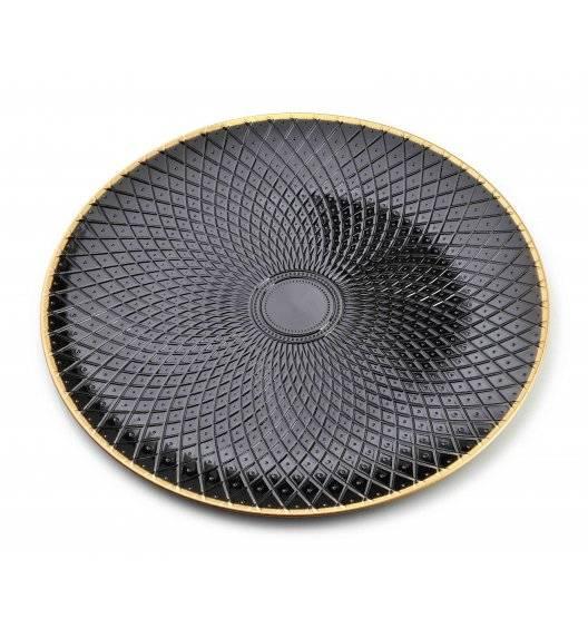 MONDEX BLANCHE COLOURS Podtalerz dekoracyjny 33 x 33 cm / czarny / tworzywo sztuczne