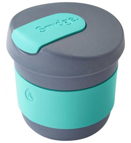 SMIDGE Kubek z przykrywką 230 ml Storm - Aqua / niebieski / biodegradowalny