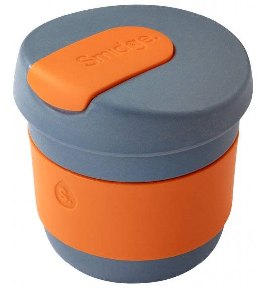 SMIDGE Kubek z przykrywką 230 ml Storm - Citrus / pomarańczowy/ biodegradowalny
