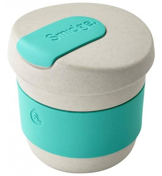 SMIDGE Kubek z przykrywką 230 ml Sand - Aqua / turkusowy / biodegradowalny