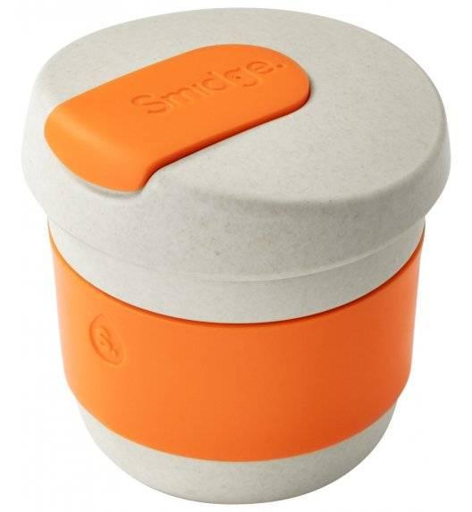 SMIDGE Kubek z przykrywką 230 ml Sand - Citrus / beżowo-pomarańczowy/ biodegradowalny