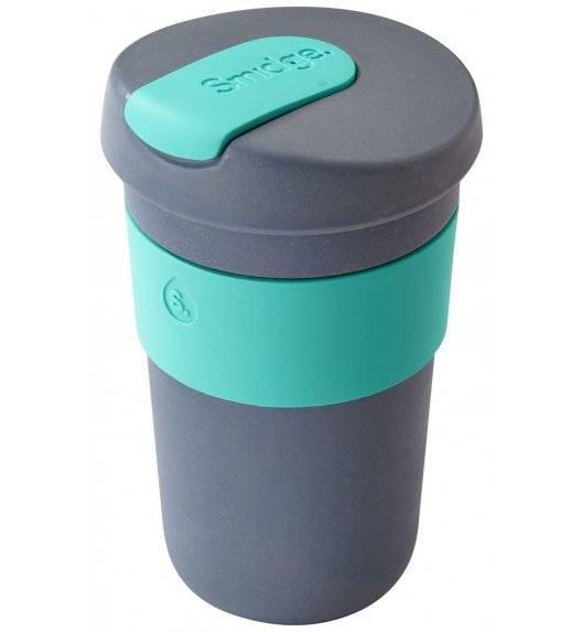 SMIDGE Kubek z przykrywką 400 ml Storm - Aqua / niebieski / biodegradowalny