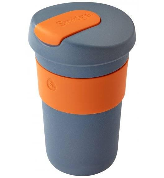 SMIDGE Kubek z przykrywką 400 ml Storm - Citrus / pomarańczowy/ biodegradowalny