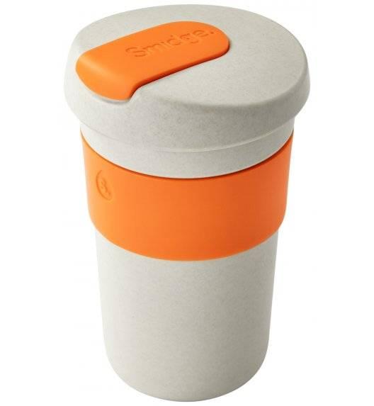 SMIDGE Kubek z przykrywką 400 ml Sand - Citrus / beżowo-pomarańczowy/ biodegradowalny