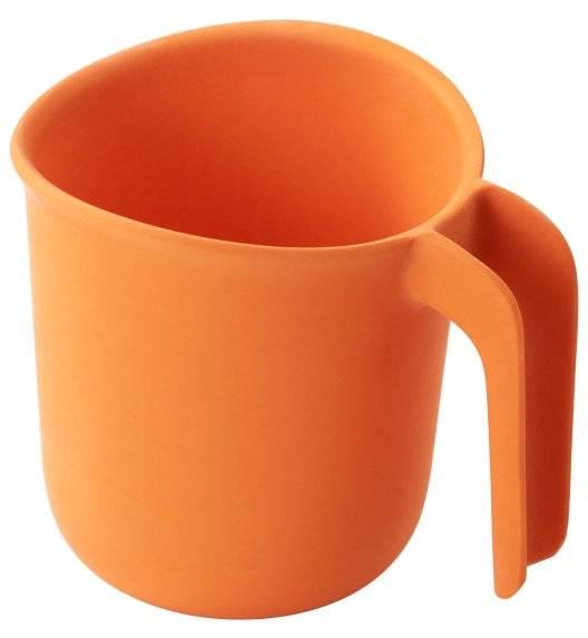 SMIDGE Kubek z uchem 280 ml - Citrus / pomarańczowy / biodegradowalny