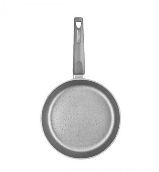 AMBITION MAGNAT GRAY Patelnia 24 cm z powłoką Qualum Basic Stone / indukcja + przekładka filcowa