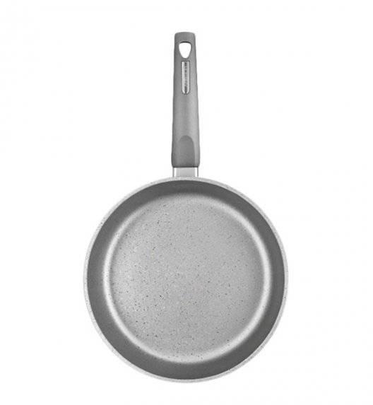 AMBITION MAGNAT GRAY Patelnia 26 cm z powłoką Qualum Basic Stone / indukcja + przekładka filcowa