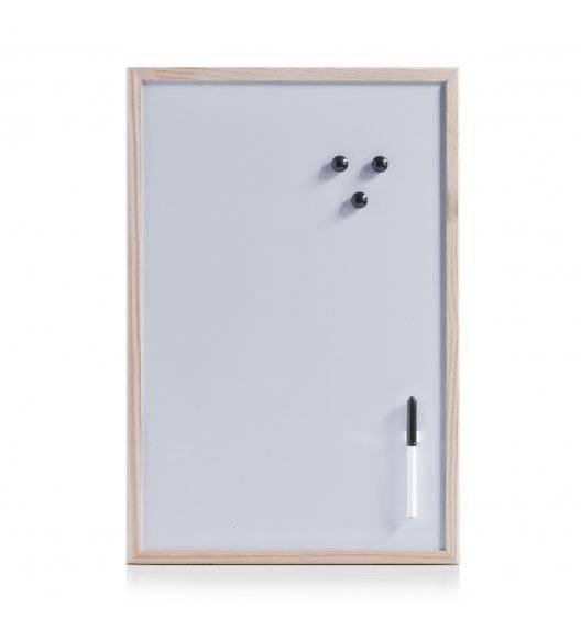 ZELLER Magnetyczna tablica z drewnianą ramą 40 x 60 cm