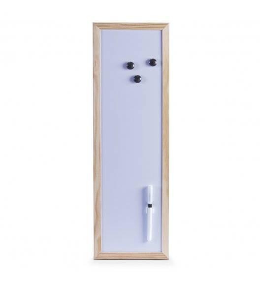 ZELLER Magnetyczna tablica z drewnianą ramą 20 x 60 cm