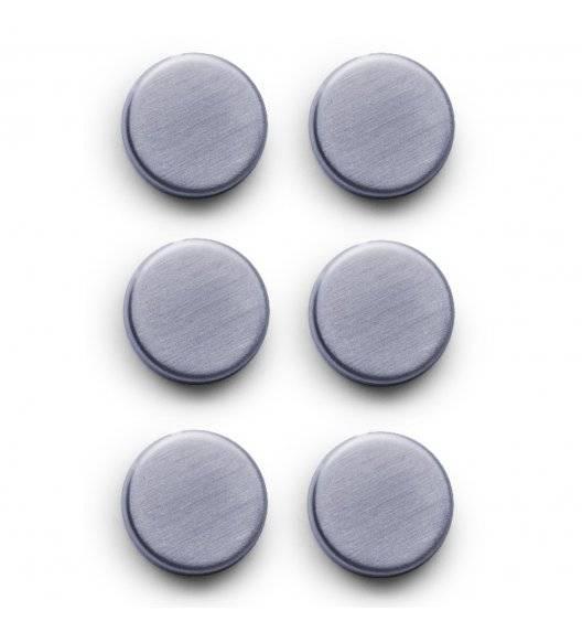 ZELLER CUBE Zestaw 6 okrągłych magnesów do tablic Ø2,7 cm / stal nierdzewna