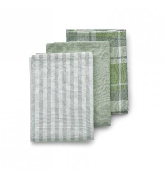 KELA PASADO Zestaw 3 ściereczek bawełnianych 65 x 45 cm / zielone