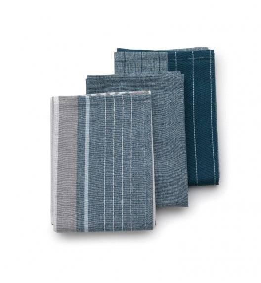 KELA PASADO Zestaw 3 ściereczek bawełnianych 65 x 45 cm / szary