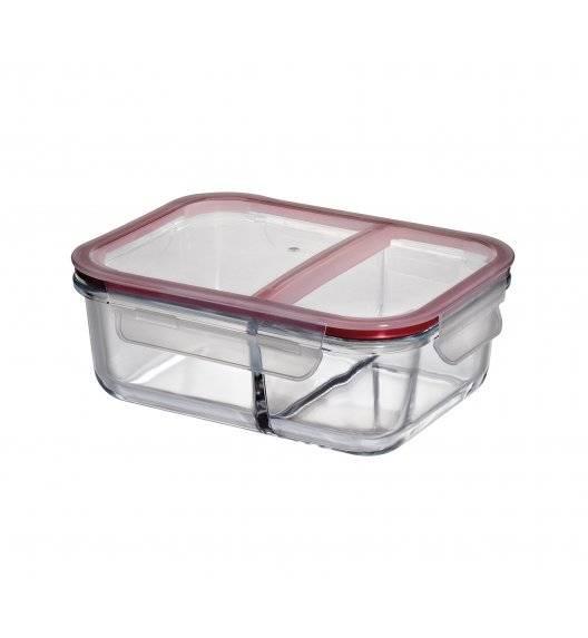 KUCHENPROFI Szklany pojemnik na lunch dwukomorowy 20x15x7 cm