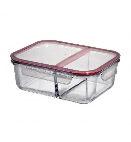 KUCHENPROFI Szklany pojemnik na lunch dwukomorowy 22,5x17x8 cm