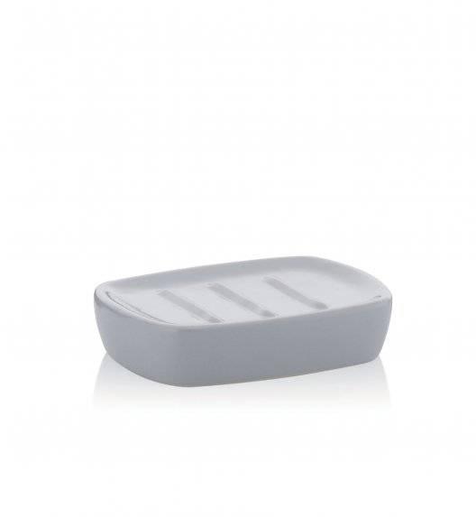 KELA LANDORA Ceramiczna mydelniczka 12 x 8,5 cm / szara