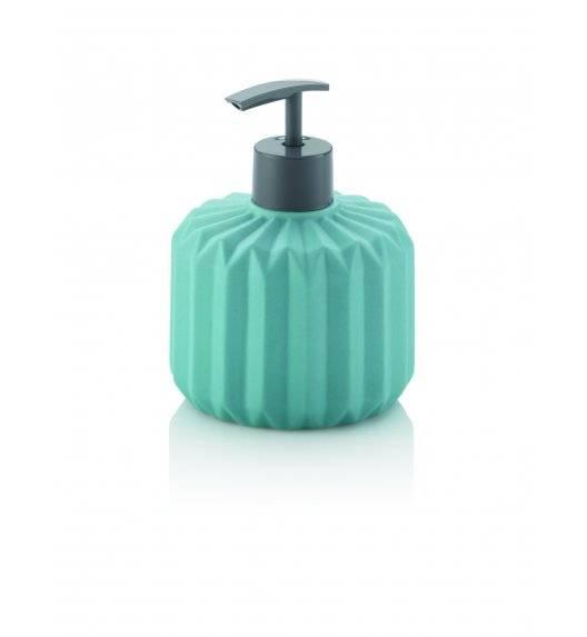 KELA ORIGAMI Ceramiczny dozownik na mydło w płynie 400 ml / turkusowy
