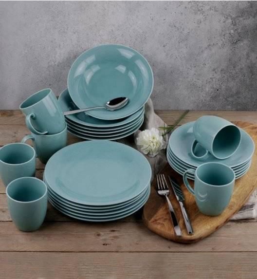 LUBIANA ETO K500 Serwis obiadowy z kubkiem / morski / 24 el dla 6 osób / porcelana ręcznie malowana