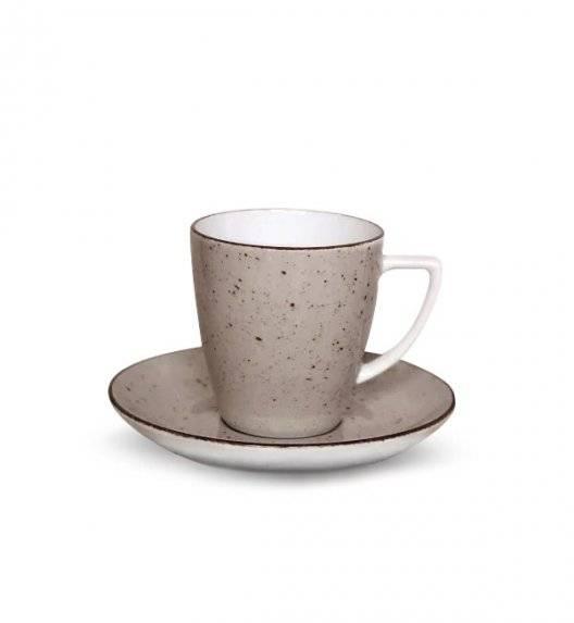 LUBIANA BOSS 6630T Filiżanka 200 ml + spodek / brązowa / porcelana ręcznie malowana