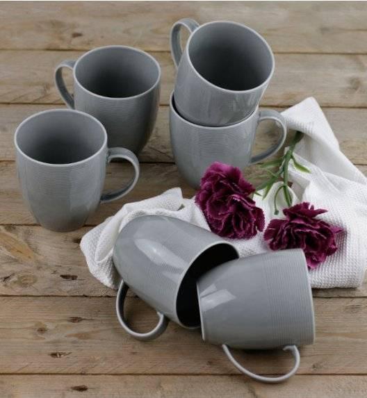 LUBIANA ETO K100 Kubek 400 ml / 6 sztuk / szary / porcelana ręcznie malowana