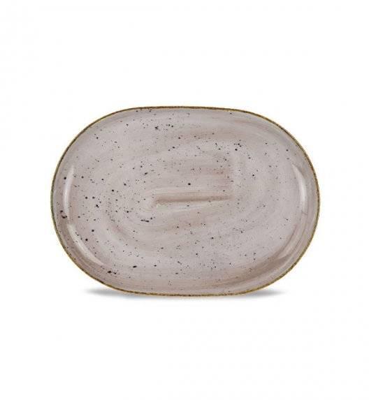 LUBIANA BOSS 6630T Półmis 33 cm / brązowy / porcelana ręcznie malowana