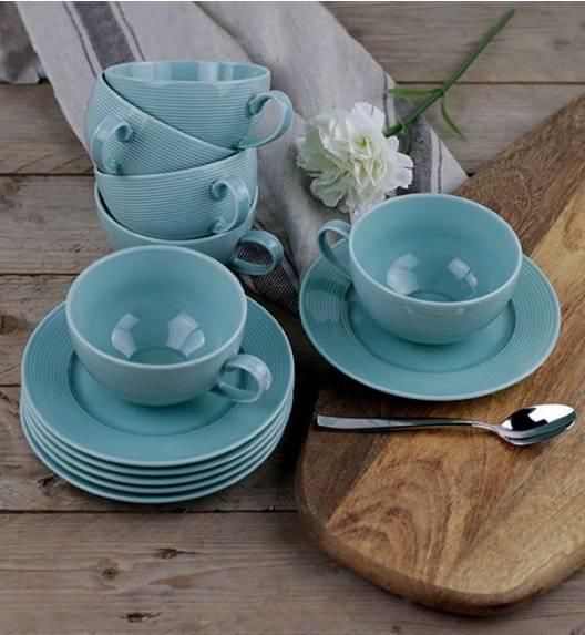LUBIANA ETO K500 Zestaw filiżanka 0,25 l + spodek / 12 el dla 6 osób / morski / porcelana ręcznie malowana