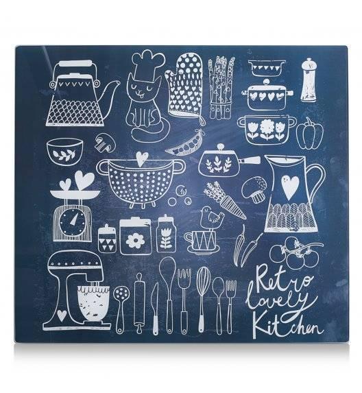 ZELLER LOVELY KITCHEN Szklana deska ochronna na płytę indukcyjną 50 x 56 cm / czarna