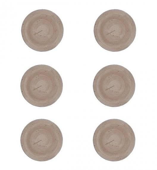 LUBIANA BOSS 6630T Komplet Talerze deserowe 20,5 cm / 6 os / 6 el / brązowy / porcelana ręcznie malowana
