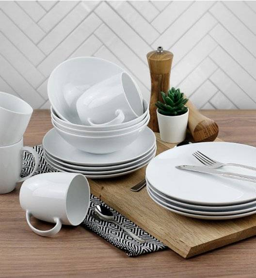 LUBIANA BOSS FILIP Serwis obiadowy 64 el / 16 osób / porcelana